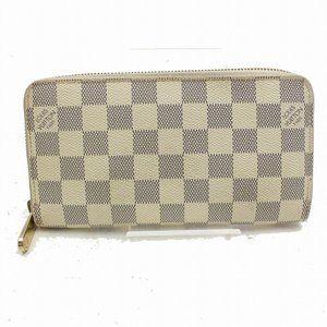 💯 Auth Louis Vuitton Zippy Wallet  Damier Azur